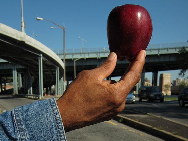 Black Cherokee with apple